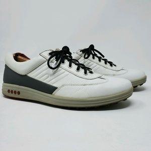 ECCO HYDROMAX Mens White Gray Golf Shoes